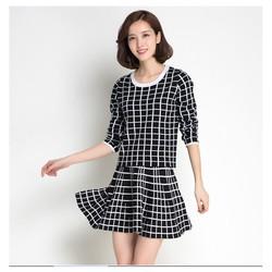 Set áo len + chân váy xòe - DL2502