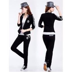 Bộ quần áo thể thao viền sọc kèm áo thun - CX378