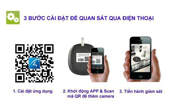 Camera quan sát ip wifi không dây thông minh Hdpro HDP333IP 01 6