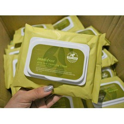 Khăn Ướt Tẩy Trang Olive Innisfree Olive Cleansing Tissue