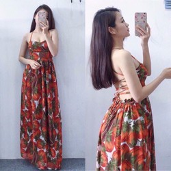 Đầm maxi đan lưng