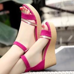 Giày nữ nhung kim tuyến hàng Việt