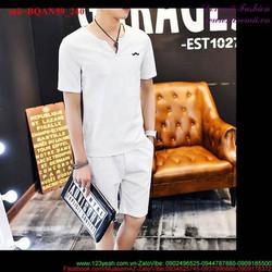 Bộ đồ thể thao nam logo Râu quần short lửng năng động BQAN59