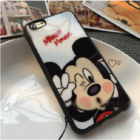 ỐP LƯNG SILICON DẺO mickey iphone 5,5s6,6s,6 plus-p9