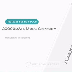 Pin sạc dự phòng Romoss Sense 6 Plus 20000 mah