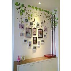 Combo Khung ảnh gỗ thông và decal cây khung hình BINBIN KAT50