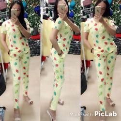 set mặc nhà tay dài hoạ tiết sành điệu shop01
