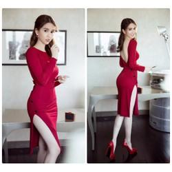 Đầm Body Tay Dài Thiết Kế Lưng V Đẹp Như Ngọc Trinh - DXM1022