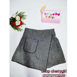 shop cherrygirl chuyên sỉ SLL- váy quần vạt chéo viền túi, sỉ 100k