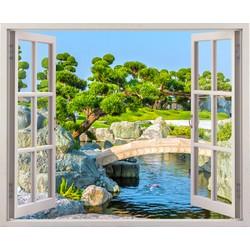 Tranh dán tường cửa sổ 3D VT0234