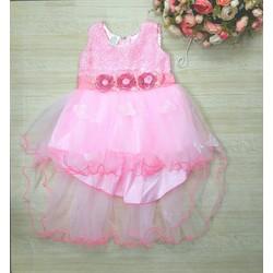 [HÀNG THIẾT KẾ] - Đầm CC voan hồng đuôi tôm