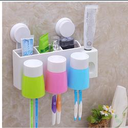 Bộ nhả kem đánh răng tự động gắn tường kèm 3 cốc