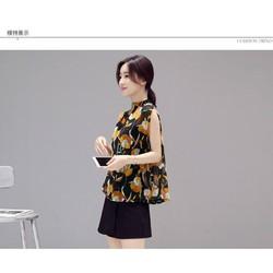Sét áo voan hoa + quần short - 5280.SETZO