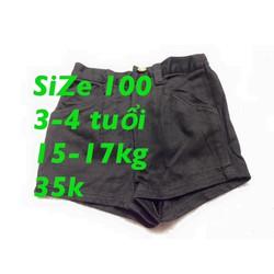 Quần kaki đen xinh xắn sz 100