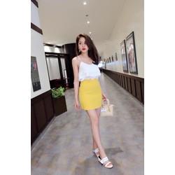 Mimihouse - Set áo ren chân váy vàng hàng thiết kế!
