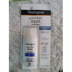 Kem Chống Nắng Neutrogena Pure và Free Liquid Sunscreen SPF 50