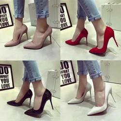 Giày cao gót nhỏ mũi nhọn hàng VNXK cao 10cm