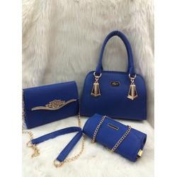 Bộ 3 túi xách LYN xanh coban