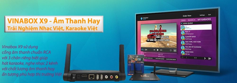 Android Tivi Box Vinabox X9- RAM 2GB+Tặng Bàn phím kiêm chuột UKB-500 5