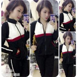 Set nguyên bộ quần áo thể thao tay dài phối màu VNJ48
