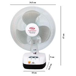 Quạt và Đèn Sạc HJD-FL 301 LED - 2 bình