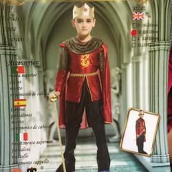 Hoá trang Halloween Bộ quần áo Hoàng Tử kèm vương miện và gậy