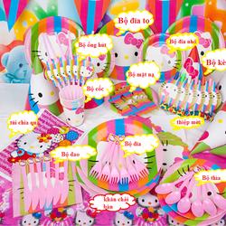 phụ kiện sinh nhật cho bé, set 16 món sinh nhật cho bé hình kitty