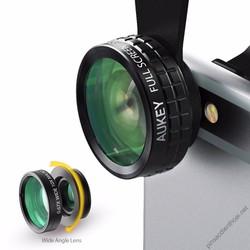 Lens Ống kính Aukey PL-A1, 3 trong 1: Macro, Góc Rộng, Mắt Cá