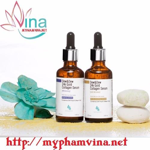 Serum trắng da 24K Gold Collagen Dew Dew 1