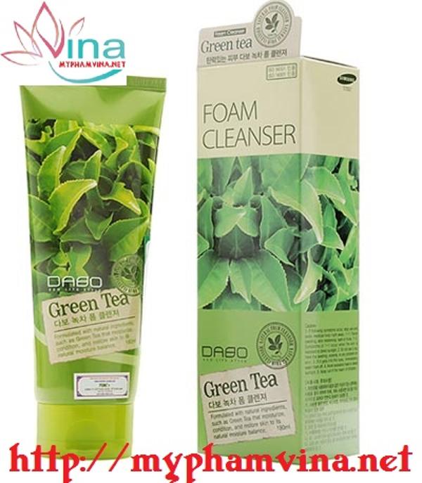 Sữa rửa mặt trà xanh Dabo Green Tea 3