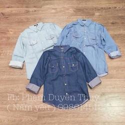 áo jean túi nắp AJ100