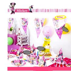 phụ kiện sinh nhật cho bé, set 16 món sinh nhật cho bé hình minnie