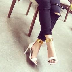 Giày cao gót viền cổ chân bảng lớn