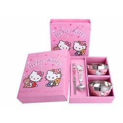 Bộ bát đũa Hello Kitty - Doraemon dễ thương cho bé