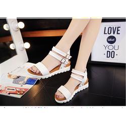 Giày sandal nữ da mềm êm chân quai hậu kép trẻ trung màu trắng
