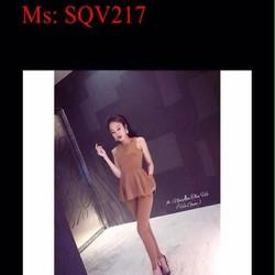 Sét áo kiểu sát nách lai bèo và quần baffy sành điệu SQV217