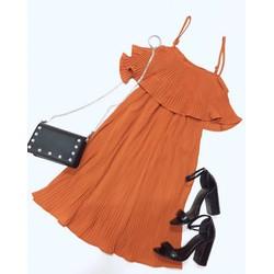 Đầm xoè dập li, form hàng đẹp chuẩn hình