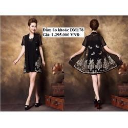 Đầm suông kèm áo khoác - DM178 - size L~5XL - HÀNG NHẬP ĐÀI LOAN