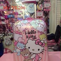 Va li kéo du lịch hình hello kitty và gấu đáng yêu VL206