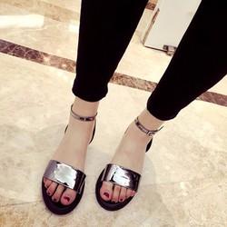 Giày sandals quai ngang da bóng