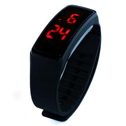 Đồng hồ đèn LED Unisex dây silicone GEX