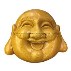 Tượng Mặt Phật Di Lặc Gỗ Tự Nhiên