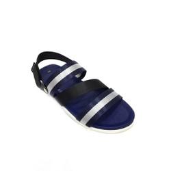 Giày Sandal sọc 3 quai ngang xanh đậm xám phối đen Everest E137