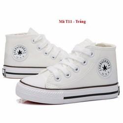 Giày cao cổ  màu trắng cho bé trai và bé gái T11
