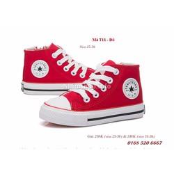 Giày cổ cao bé gái 3 - 12 tuổi T11 kiểu dáng năng động và cá tính
