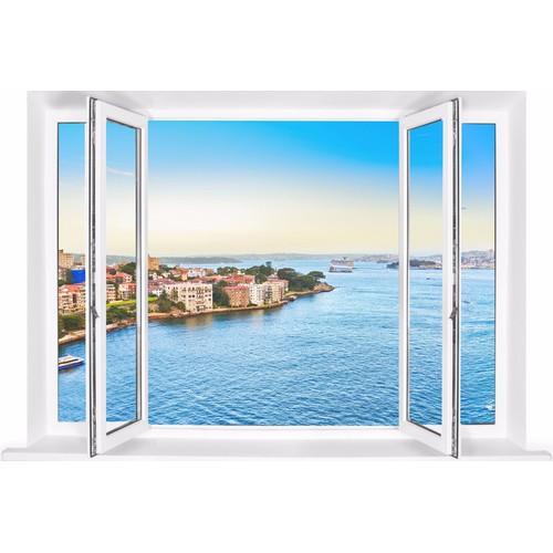Tranh dán tường cửa sổ 3D cảnh biển VTC VT0250