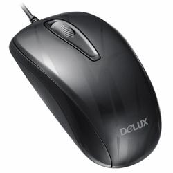 Chuột có dây DELUX M375 Optical USB - ĐEN