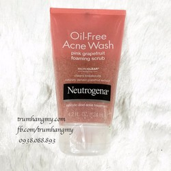 Sữa rửa mặt Neutrogena Oil-Free Acne Wash Pink Grapefruit