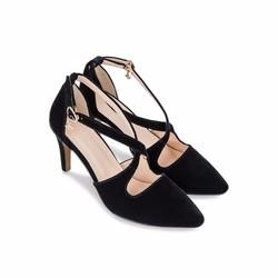 Giày cao gót nhung sành điệu