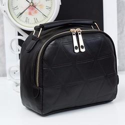 Túi đeo chéo hình vuông khóa kéo da PU PB11013337
